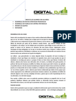 DESARROLLO Y MEJORAMIENTO DE LAS CLASES PROGRAMA BASICO