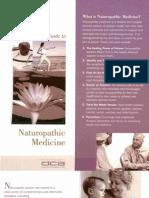 State of California Dept. of Consumer Affairs Naturopathic Medicine Committee Brochure