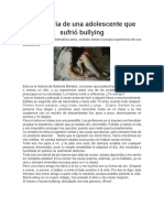 La historia de una adolescente que sufrió bullying