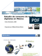 Consumo de Medios Digitales en Mexico Millward Brown 2009
