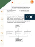estructura de texto informativo