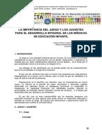 1989 - Perez - La importancia del juego y los juguetes para el desarrollo integral