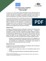 Agenda de formación de tutores Ciclo I