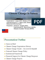 An Overview of National Climate Change Strategies and Priorities in Samoa