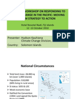 An Overview of National Climate Change Strategies and Priorities in Solomon Islands