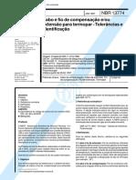 NBR 13774 - Cabo e fio de compensacao e ou extensao para termopar - Tolerancias e identificacao.pdf