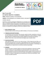 COMUNICADO A PADRES DE FAMILIA-SEGUNDO PERIODO-2020