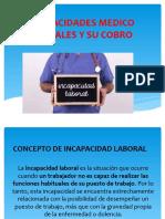 INCAPACIDADES MEDICO LABORALES Y SU COBRO