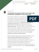 """""""Constituição tem dupla mão. Não é de um lado só não"""", diz Bolsonaro a apoiadores, em ato contra o STF"""