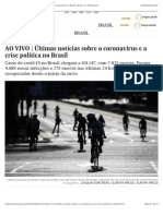 AO VIVO | Últimas notícias sobre o coronavírus e a crise política no Brasil | Brasil | EL PAÍS Brasil