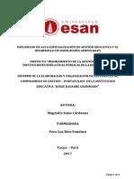 Organizacion de Fuentes Compromisos Gestion Portafolios