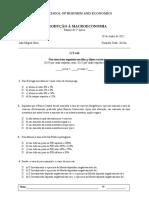 INTRODUÇÃO À MACROECONOMIA Exame de 2ª época (1)