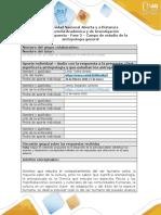 Formato respuesta - Fase 2 - La antropología y su campo de estudio.