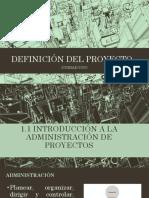 UD 1 DEFINICIÓN DEL PROYECTO