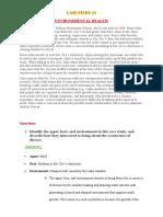 Case study 1 - Environmental Health
