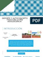 Deporte y autoconcepto físico en la pre adolescencia