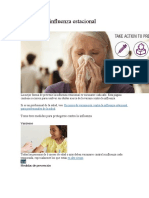 Prevenga la influenza estacional