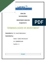 FINA350 - Assignment1