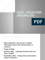 BRM Data collection and analysis