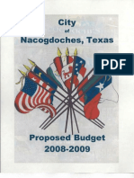 Proposed 2008-2009 City Budget
