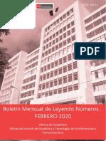 ESTADISTICA LABORAL FEBRERO-2020