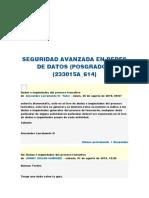 SEGURIDAD AVANZADA EN REDES DE DATOS