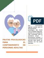 PAUTAS PSICOLOGICAS PARA EL CONFINAMIENTO DE PERSONAS ADULTAS