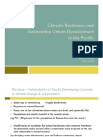 Climate Resilience and Sustainable Urban Development in the Pacific
