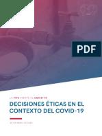 Decisiones Éticas en el Contexto COVID-19