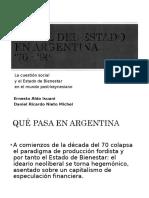 Estados de Bienestar - Anexo Argentina