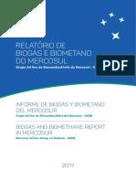 Relatorio de Biogas e Biometano do Mercosul 2017