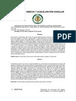 Informe 6. MCUV y momento de inercia s