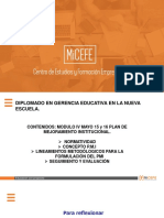 DIPLOMADO EN GERENCIA EDUCATIVA MODULO IV