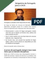 Bibliografia Obrigatória de Português para o CACD