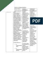 La Matriz De Análisis Con Relación A Los Enfoques Disciplinares