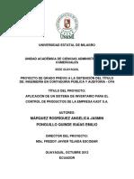 Aplicación de Un Sistema de Inventario Para El Control de Productos de La Empresa Kast s.a.
