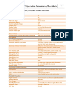 Boeing 737 Operation Procedure and Checklists