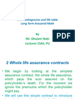 Life Contingencies and life table 6_April