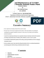 Practicum report presentation on Substation