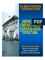 Disposiciones constructivas en puentes de acero estructural