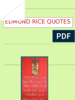 Edmund Rice Quotes Ppt