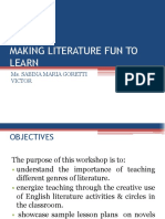 MAKING LITERATURE FUN TO LEARN