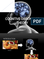 Lesson 5 Cognitive Dissonance Theory