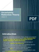 Lesson 7 Uncertainty Reduction Theory