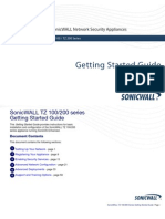 SonicWALL TZ 100 200 Series Getting Started Guide