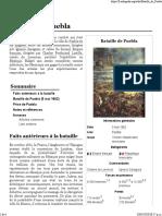 défaite de l'armée francias par l'armée mexicaine