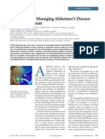 A Guideline for Managing Alzheimer's Disease Part I