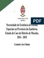 Necessidade de escolas especiais em Mocuba