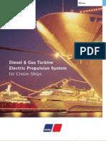 MTU Diesel & Gas Turbine Electric Propulsion for Cruise Ships