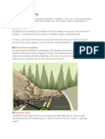 Effects of landslides and its precautions